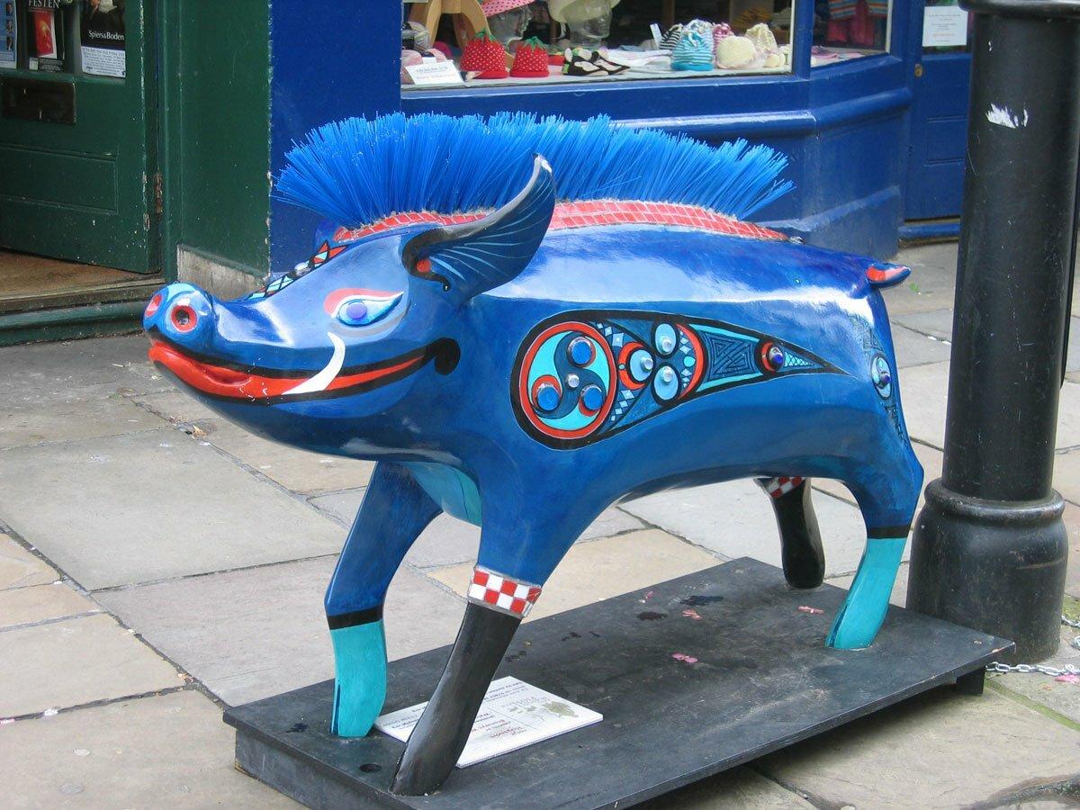Bath pig in Walcot Street Bath