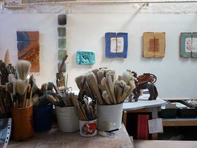 Sculpture in the Studio