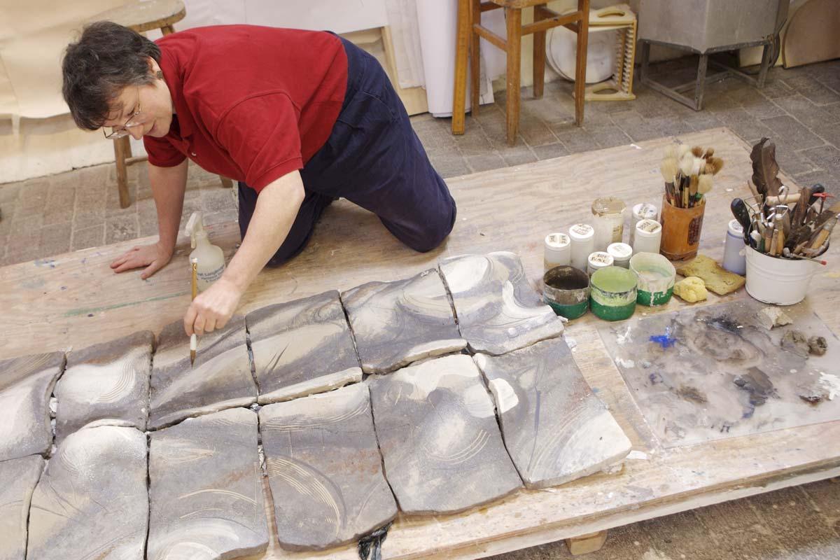 Wet clay panel