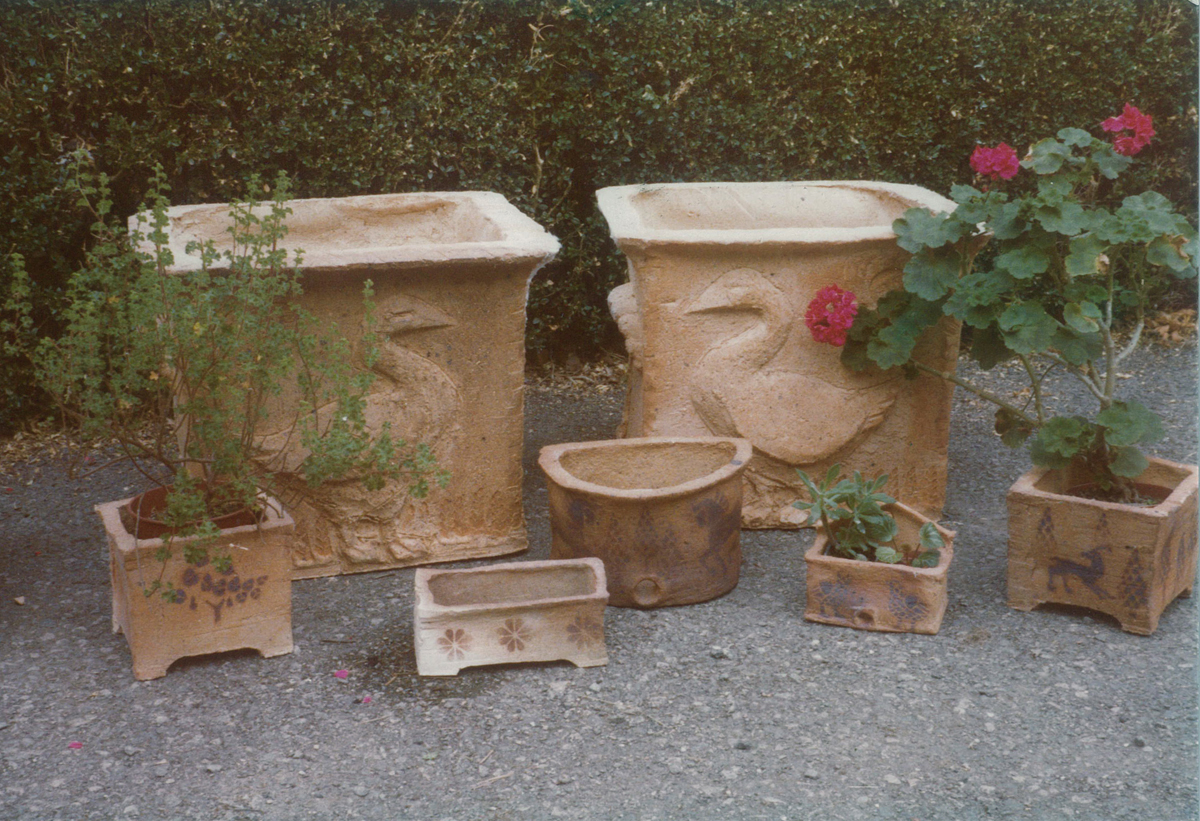 Fireclay garden troughs